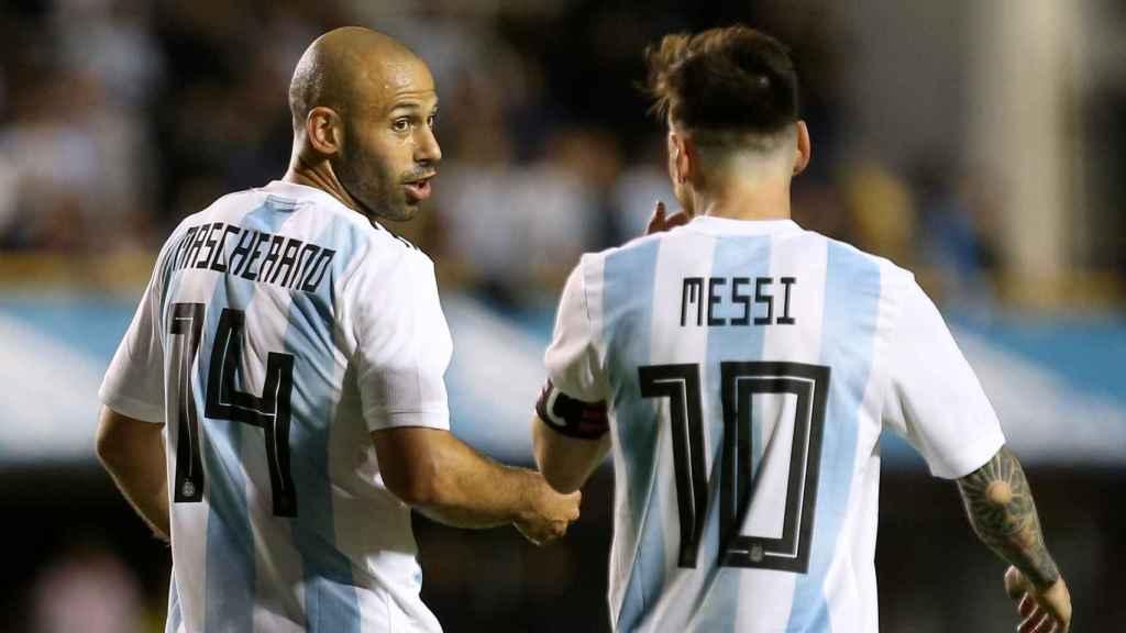 Mascherano y Messi, dos pilares de esta Argentina.
