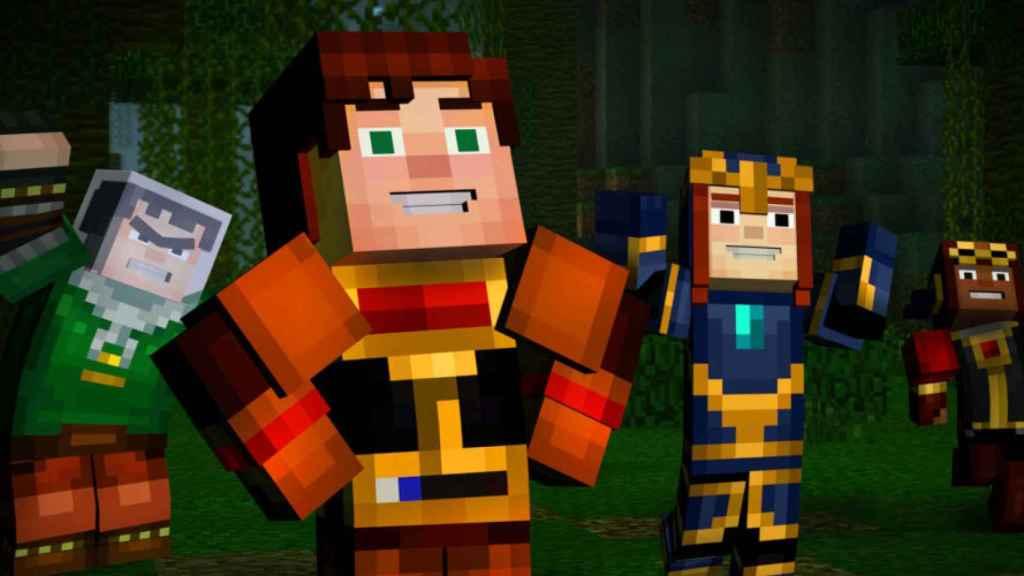 Modo historia de Minecraft.