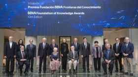 Los galardonados por la Fundación BBVA en la ceremonia de los Premios Fronteras del Conocimiento.