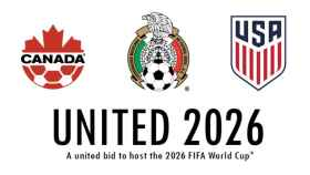 Logo de la candidatura de Estados Unidos, Canadá y México para el Mundial 2026.