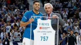 Felipe Reyes, homenajeado por sus 757 partidos en la ACB.