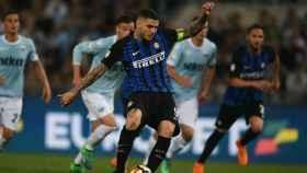 Icardi anotó un penalti decisivo ante la Lazio. Foto: Twitter (@Inter)