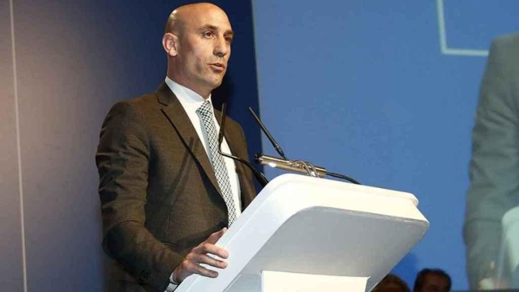 Rubiales, presidente de la RFEF. Foto: Twitter (@RFEF).