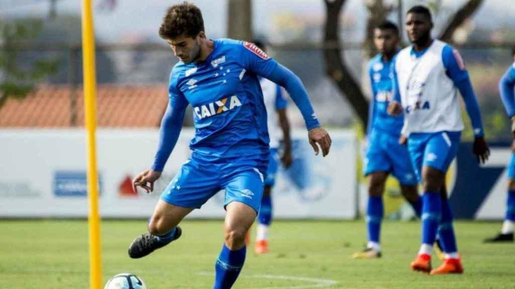 Lucas Silva en un entrenamiento con el Cruzeiro. Foto: cruzeiro.com.br