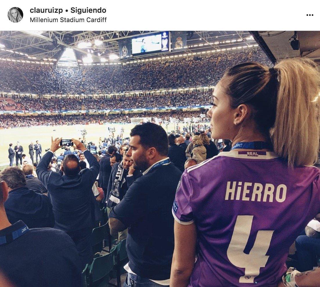 Claudia Ruiz, hija de Fernando Hierro Foto: Instagram (@clauruizp)