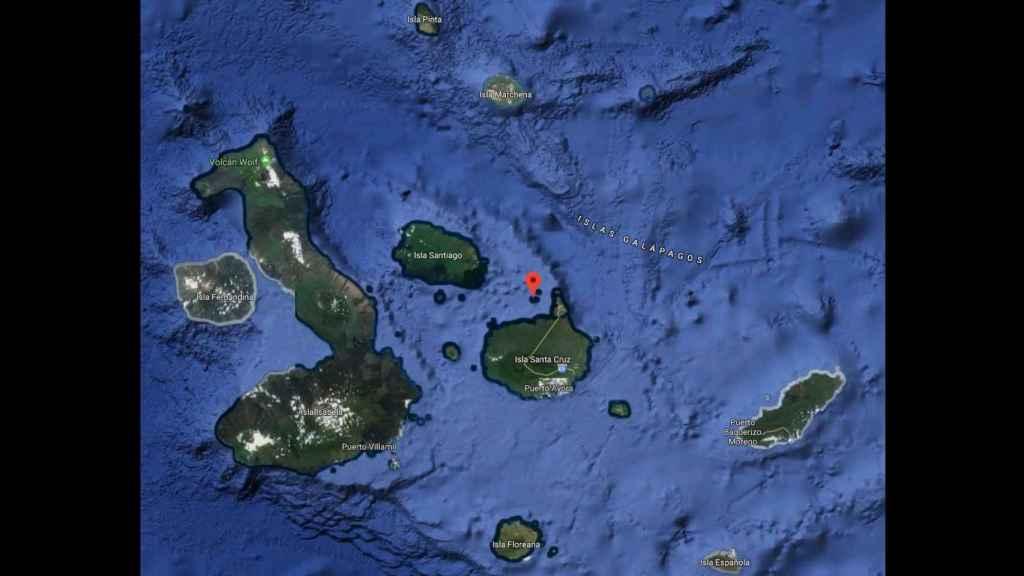 La situación de Daphne Mayor en el archipiélago de las Galápagos.