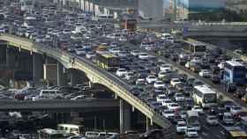 beijing china contaminacion atascos