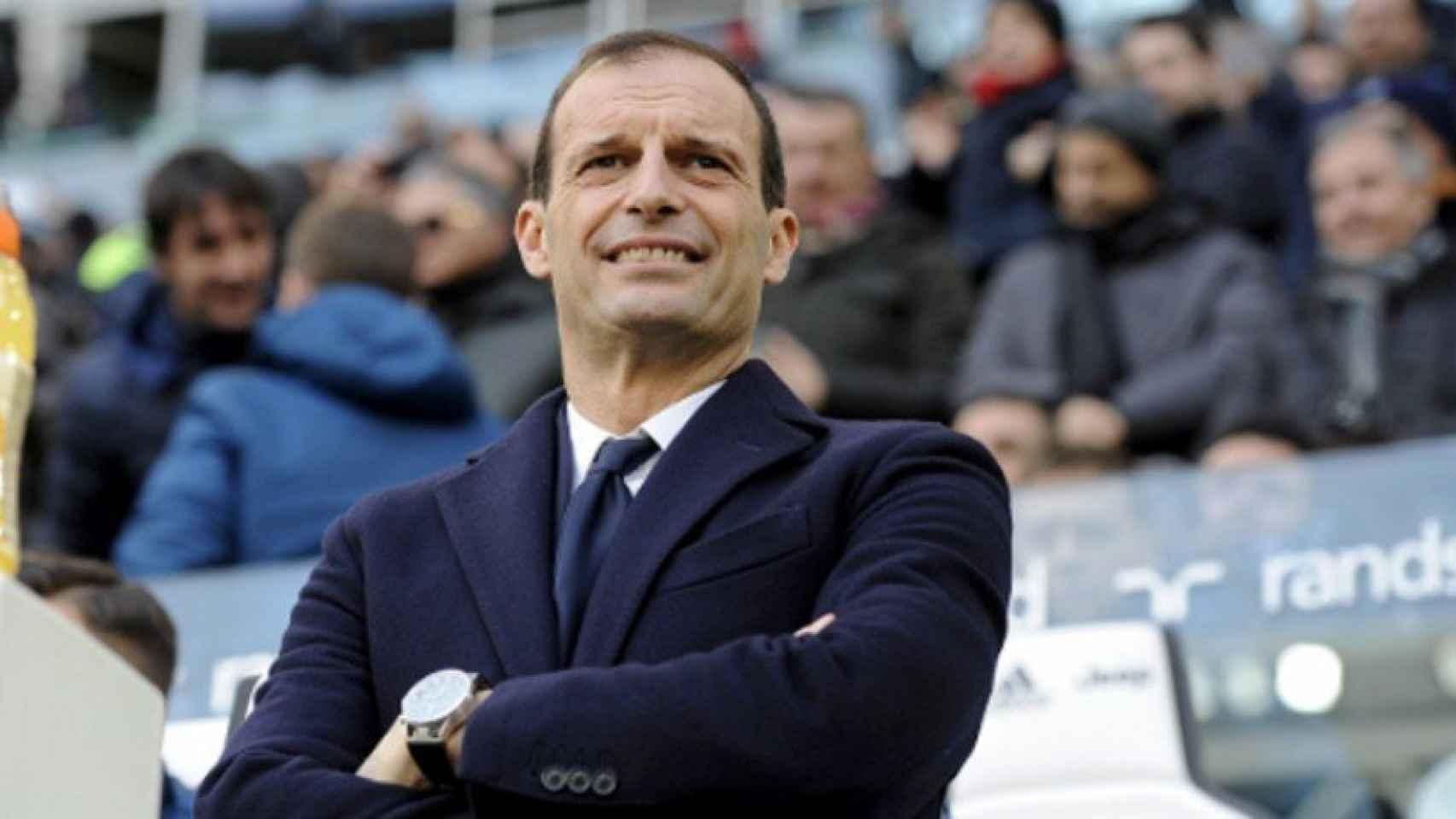Allegri en un partido con la Juventus. Foto juventus.com