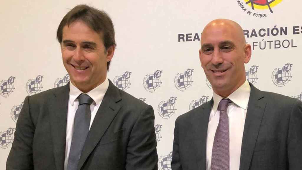 Luis Rubiales y Julen Lopetegui