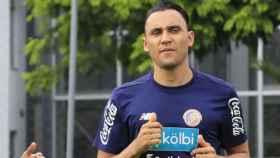 Keylor Navas, con Costa Rica. Foto Twitter (@fedefutbolcrc)