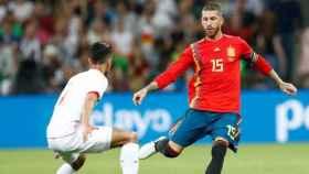 Ramos durante un partido con España. Foto: Facebook (@sefutbol).