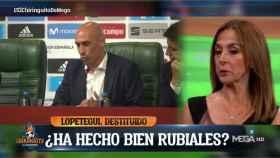 Carme Barceló apoyó a Luis Rubiales en El Chiringuito. Foto: Twitter (@elchiringuitotv)