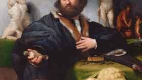 El retrato Andrea Odoni, prestado por la reina Isabel II para la exposición.