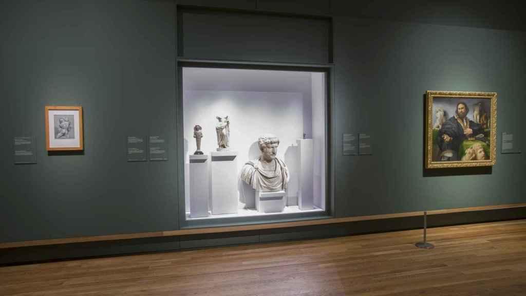 Montaje de la exposición del Museo del Prado.
