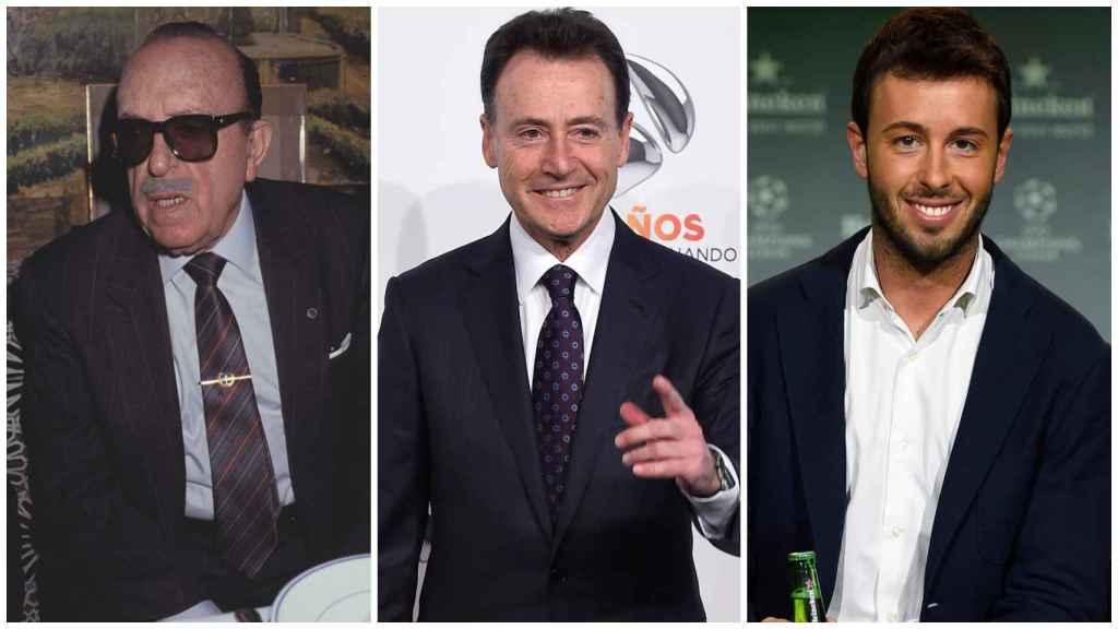 En un montaje, de izquierda a derecha: Matías Prats Cañete, Matías Prats Luque y Matías Prats Chacón.
