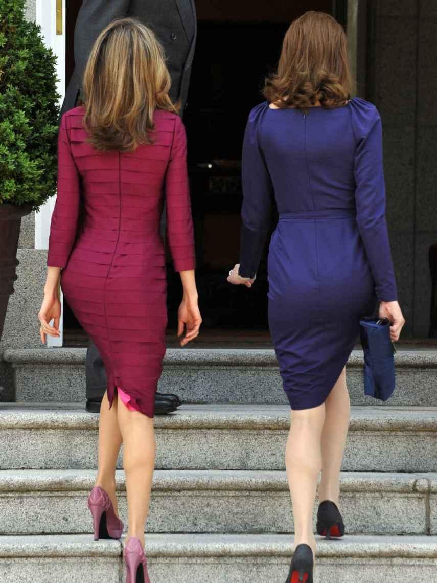 La Reina Letizia y Carla Bruni, juntas en La Zarzuela