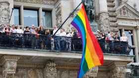 Una manifestación en el orgullo gay en Hamburgo (Alemania)