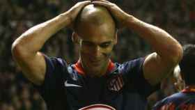 Pernía, en el Atlético de Madrid. Foto uefa.com