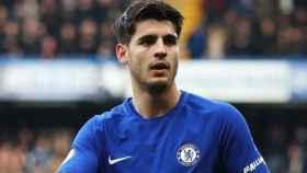 Álvaro Morata, en un partido del Chelsea