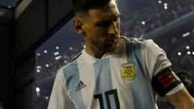 Messi, con Argentina. Foto Instagram (@afaseleccion)