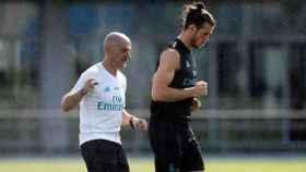 Gareth Bale entrena con Pintus