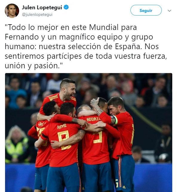 Lopetegui manda un mensaje a la Selección y a Fernando Hierro