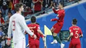 Cristiano Ronaldo celebra su gol ante España. Foto: fpf.pt