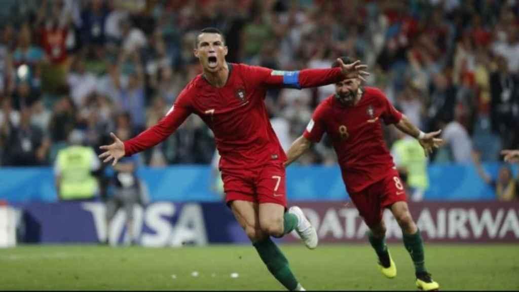 Cristiano Ronaldo celebra un gol en el debut en el Mundial. Foto: Facebook (Seleções de Portugal)