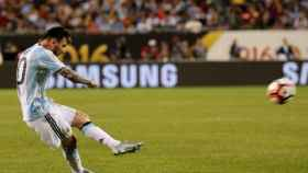Leo Messi, con Argentina. Foto: afa.com.ar