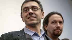 Juan Carlos Monedero y Pablo Iglesias en una imagen de archivo.