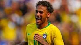 Neymar celebra un gol con Brasil. Foto Instagram (@neymarjr)