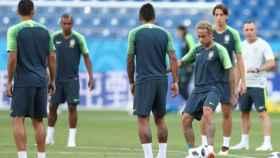 Neymar, en un entrenamiento de Brasil. Foto: cbf.com.br