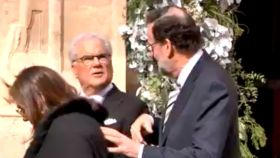 Rajoy, con Francisco Riquelme, en la boda del hijo de éste.