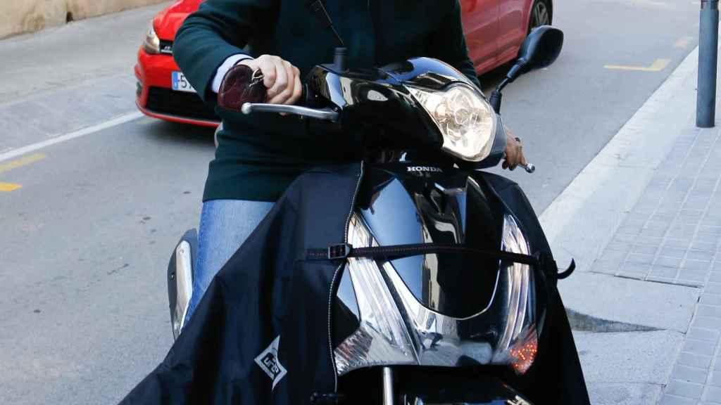 Ana Urdangarin entrando en su casa de Barcelona en una imagen de 2017.