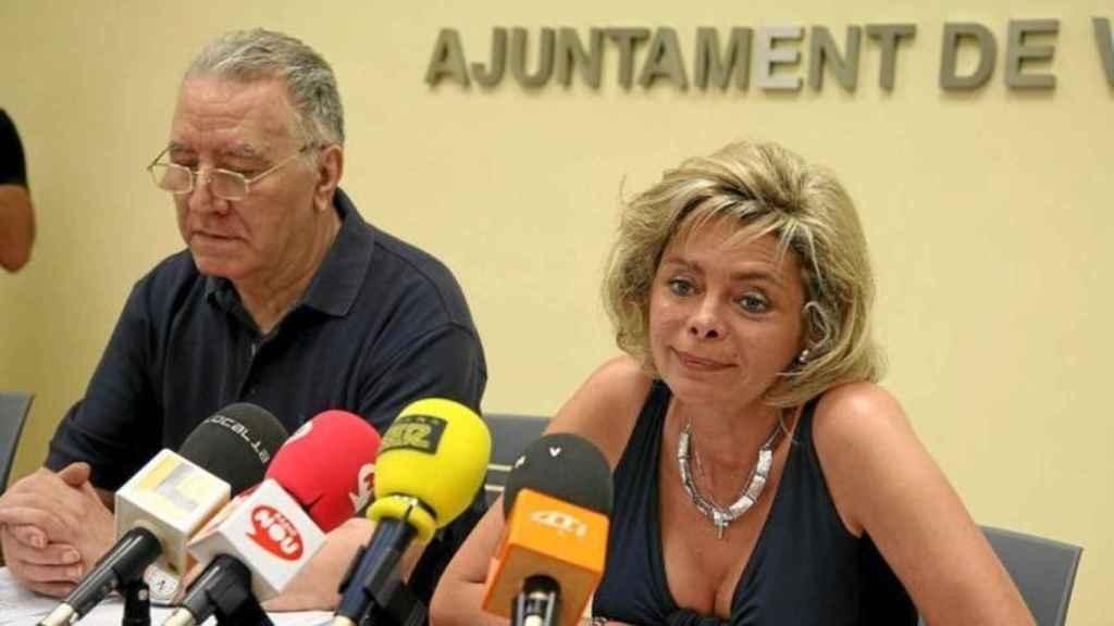 María José Alcón durante una rueda de prensa cuando aún formaba parte del equipo de gobierno de Rita Barberá.