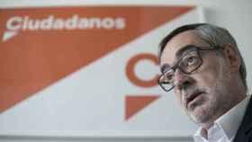José Manuel Villegas, en los despachos de Cs en el Congreso.