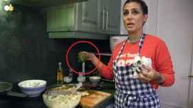 Elena Tablada durante la grabación del programa 'Ven a cenar conmigo Gourmet Edition'.