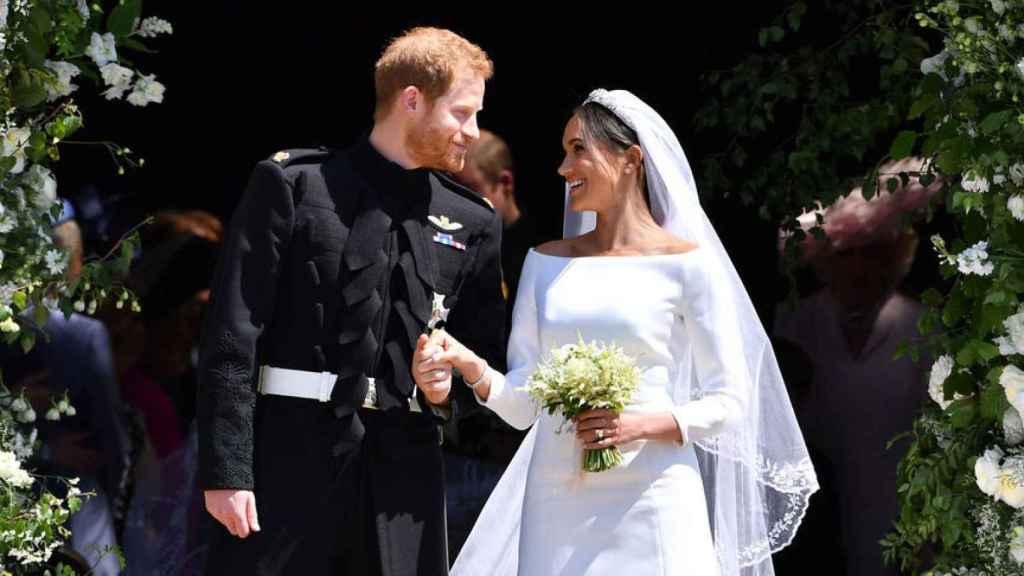 Harry y Meghan Markle, el día de su boda.