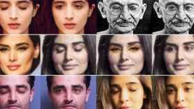 inteligencia artificial ojo cerraro ojo abierto abrir ojo fotografia