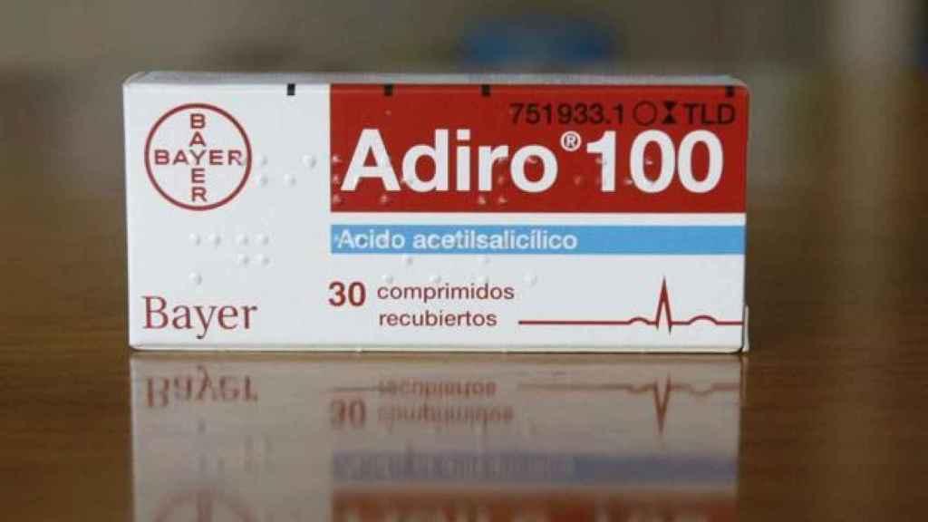 Una caja de Adiro de 100 miligramos.