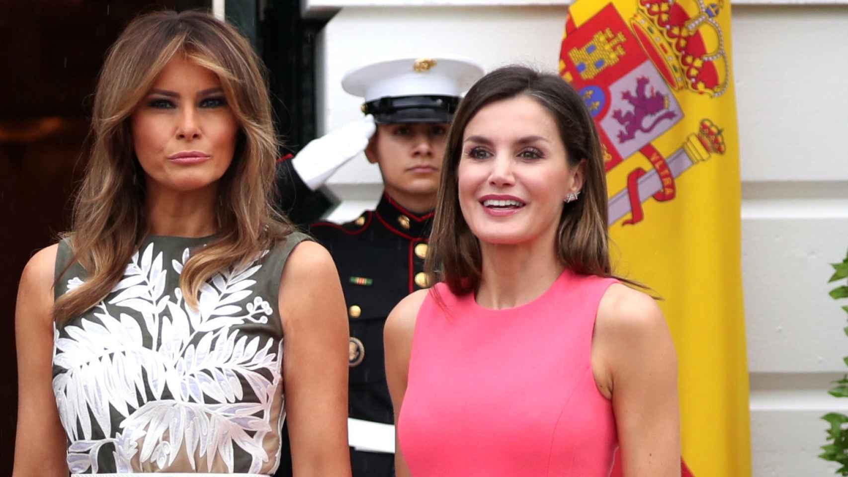 Donald Trump, Felipe VI, Melania Trump y la reina Letizia.