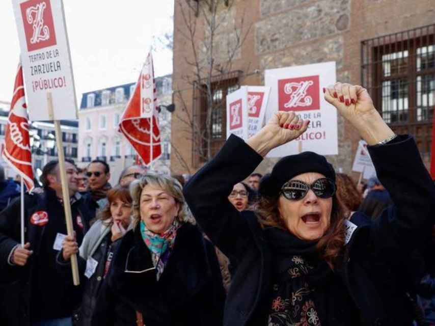 Una de las protestas de los trabajadores del INAEM contra la fusión.