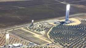 Imagen de una planta termosolar de Abengoa.