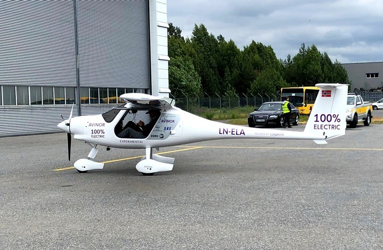 avinor avion electrico noruega en tierra