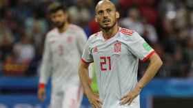 David Silva durante el Mundial de Rusia