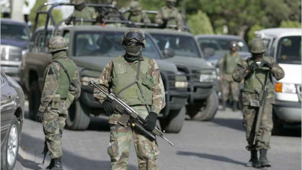 Policías en las calles de México