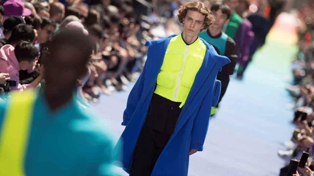 El modelo en la Semana de la Moda de París. EFE.
