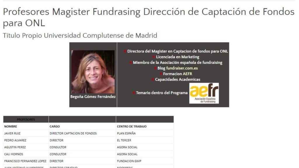 Imagen que facilita la universidad Complutense de Madrid.