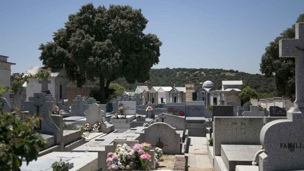 Vista general del cementerio de El Pardo.