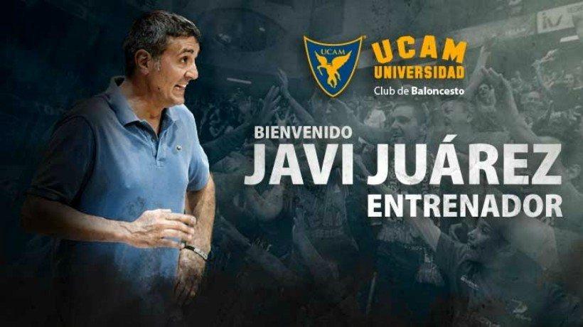 Javi Juárez, nuevo entrenador de UCAM Murcia. Foto ucamdeportes.com